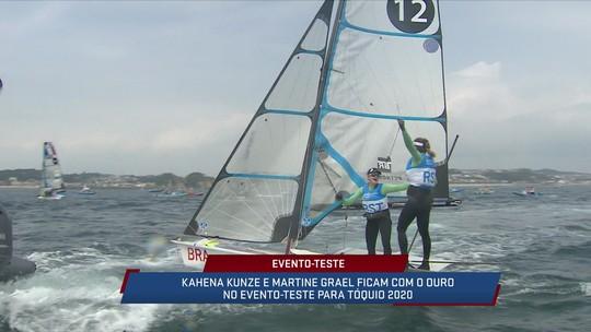 Kahena Kunze e Martine Grael são ouro no evento-teste para Tóquio