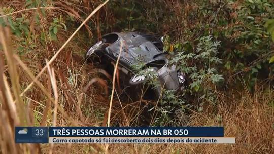 Família desaparecida é achada morta em acidente na BR-050 em MG; filho sobrevive e pede ajuda