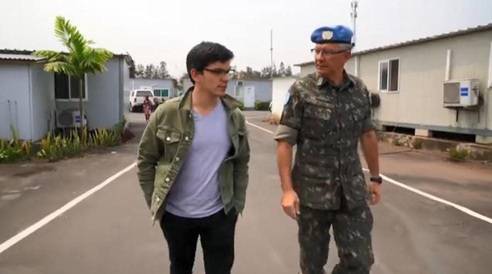 O general brasileiro Elias Matins Filho é o responsável pela Monusco, maior ação de paz da ONU no mundo. — Foto: Reprodução/TV Globo