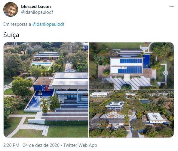 Embaixada da Suíça em Brasília (Foto: Reprodução)