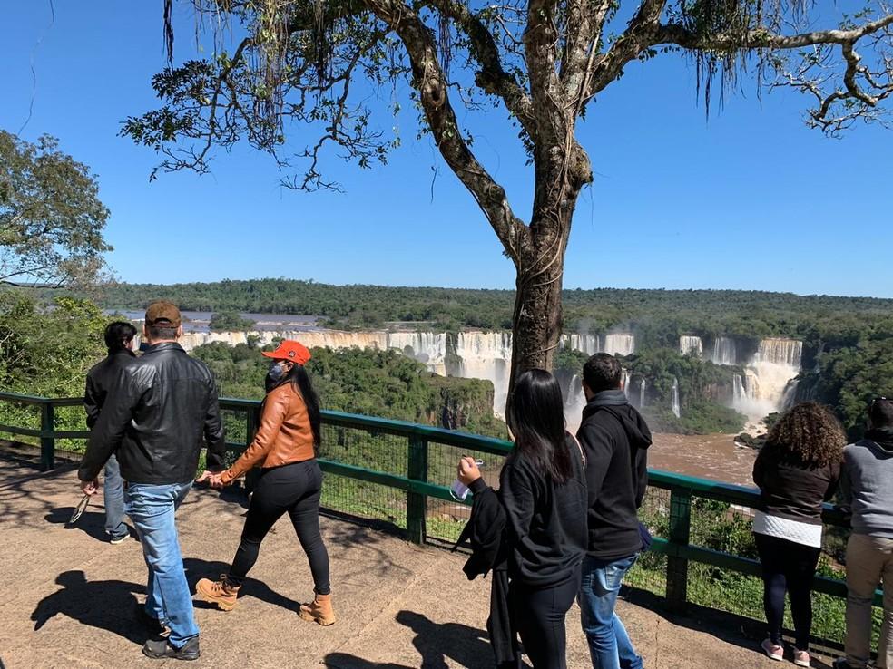 Parque Nacional do Iguaçu recebeu mais de 4 mil visitantes em agosto — Foto: Marcos Landim/RPC