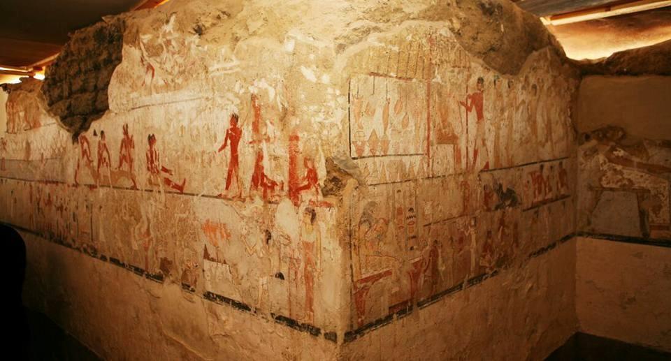 Pinturas representam Heptat e a sociedade egípcia em diversas circunstâncias.  (Foto: Ministry of Antiquities)