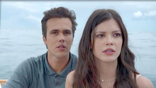 Vitória Strada e Bruno Ferrari mostram os bastidores das gravações do acidente de Maria Vitória e Vicente