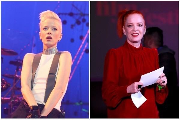 Shirley Manson em 2001 (no auge da carreira) e em 2018 (Foto: Getty Images)