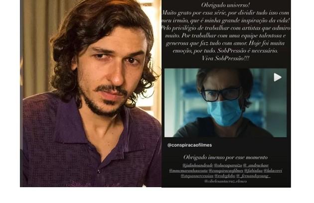 Ravel Andrade retribuiu a homenagem e publicou texto homenageando o irmão e agradecendo pela série (Foto: Reprodução/Instagram)
