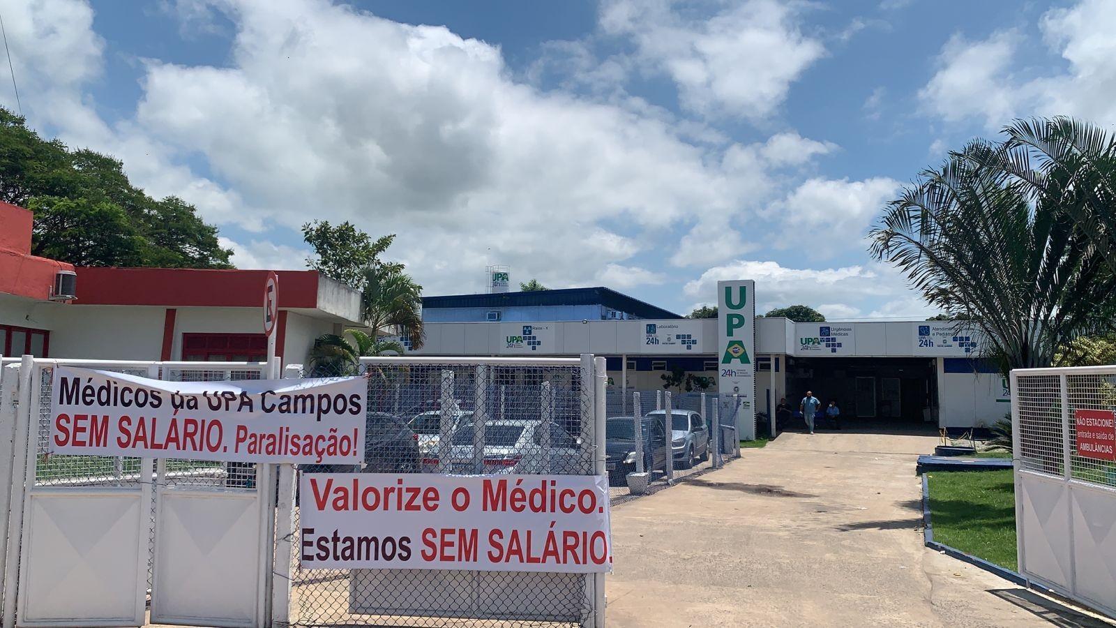 Médicos da UPA em Campos, RJ, paralisam atendimentos ambulatoriais em protesto por atrasos no salário