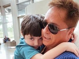 Leonardo surge com o neto após divergências familiares e repercute (Reprodução/Instagram)