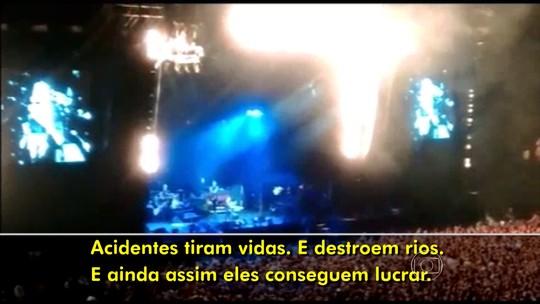 Pearl Jam pede punição em show após desastre em Mariana; veja vídeo