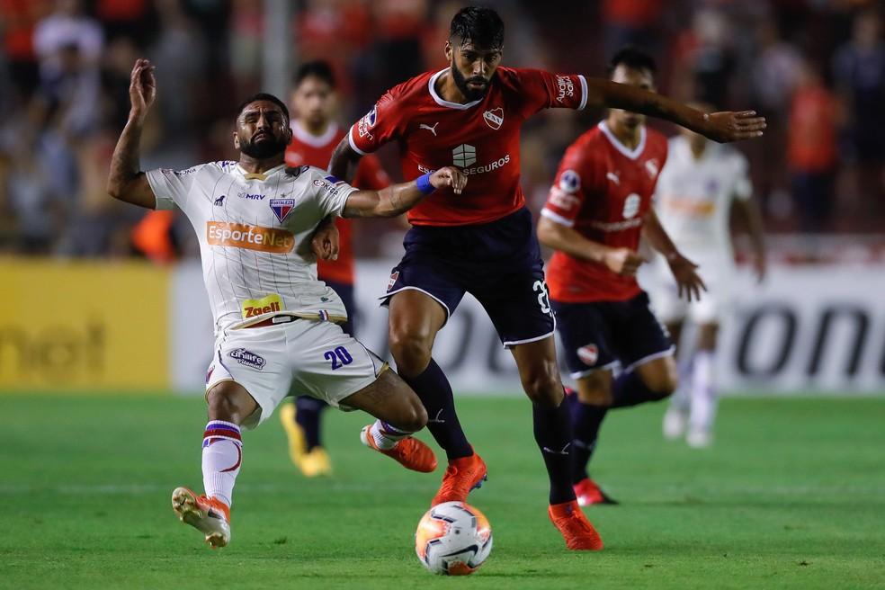 Independiente x Fortaleza Copa Sul-Americana — Foto: EFE/Juan Ignacio Roncoroni