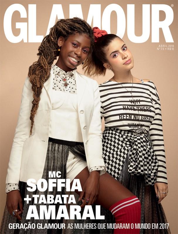 Mc Soffia e Tabata Amaral na Glamour de abril (Foto: Cassia Tabatini)