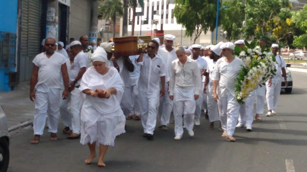 Ialorixá do terreiro mais antigo de Salvador, Mãe Tatá Oxum Tomilá morreu aos 96 anos na Bahia — Foto: Jeferson Janer/TV Bahia