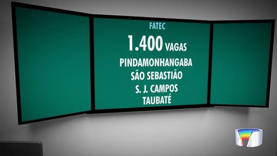 Fatec abre inscrições para 1,4 mil vagas em oito cidades da região