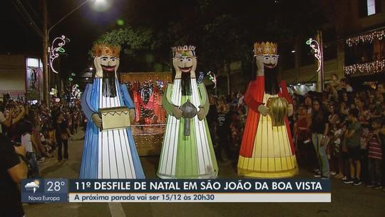 FOTOS: tradicional Parada de Natal encanta adultos e crianças em São João da Boa Vista