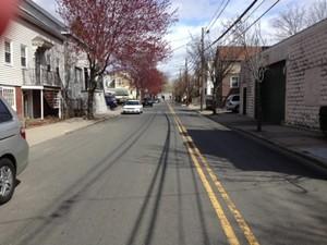 Leitor registra rua deserta em Cambridge. (Foto: Daniel Santiago/VC no G1)