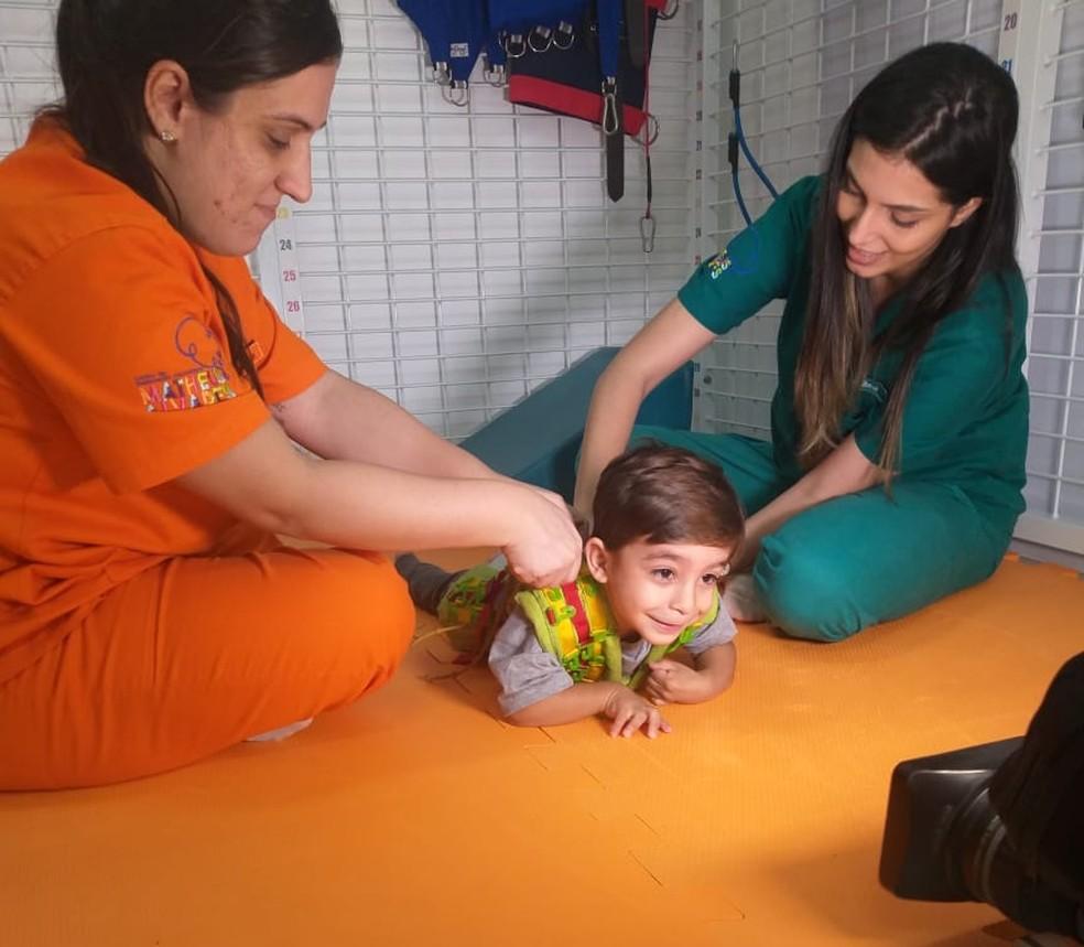 Nina Barbosa fez reportagem muito especial com o pequeno Enzo — Foto: Arquivo Pessoal