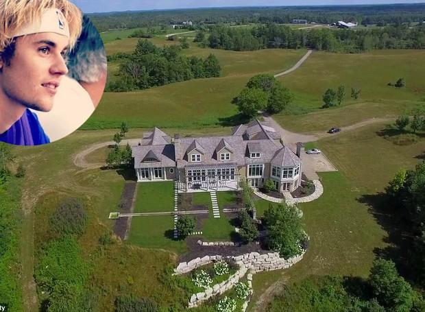 A casa nova do cantor Justin Bieber conta com lago privativo e pista de corrida de cavalos (Foto: Reprodução/ Rego Realty)