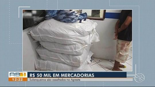 Sulanqueiros são assaltados e têm mercadoria avaliada em R$ 50 mil roubada em Vertentes