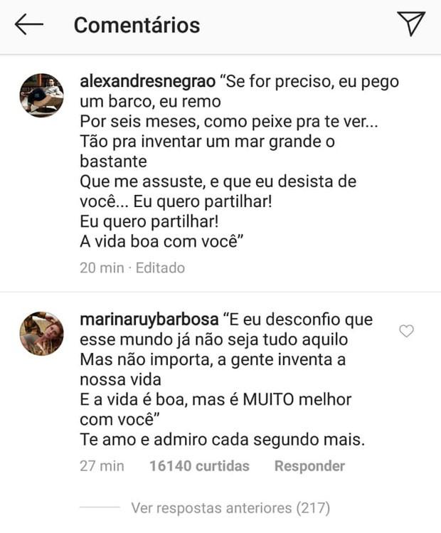Marina Ruy Barbosa responde declaração do marido, Xandinho Negrão (Foto: Reprodução/Instagram)