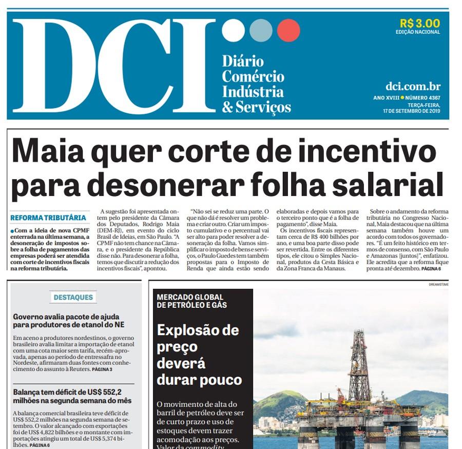 Jornal DCI anuncia que encerrará as atividades no impresso e no digital - Notícias - Plantão Diário