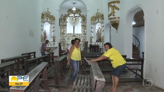 Igreja do século 18 é arrombada e quatro imagens de santos são roubadas em Olinda
