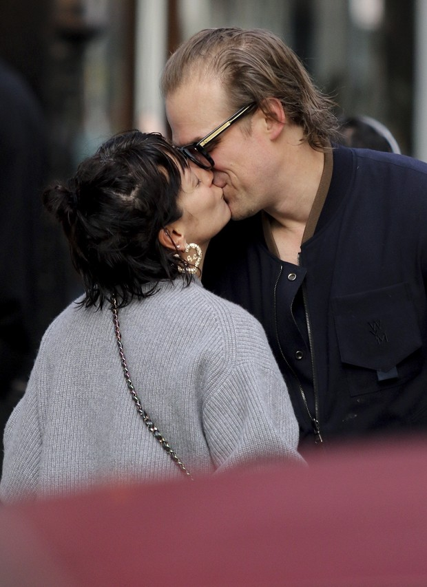 David Harbour e Lily Allen (Foto: BACKGRID)