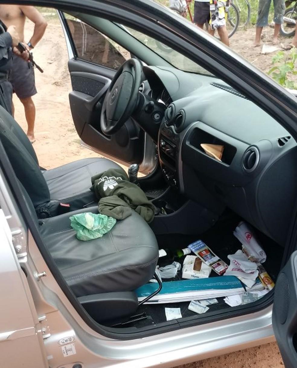 Carro roubado em Nova Parnamirim foi recuperado; dono do veículo passa bem (Foto: Divulgação/PM)