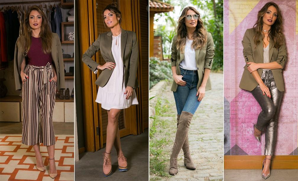 b82f7f9a50 ... Patrícia Poeta mostra a versatilidade do blazer em looks modernos e  estilosos — Foto  Raphael