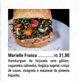 Restaurante deu nome de Marielle Franco para hamburguer  (Foto: Reprodução )