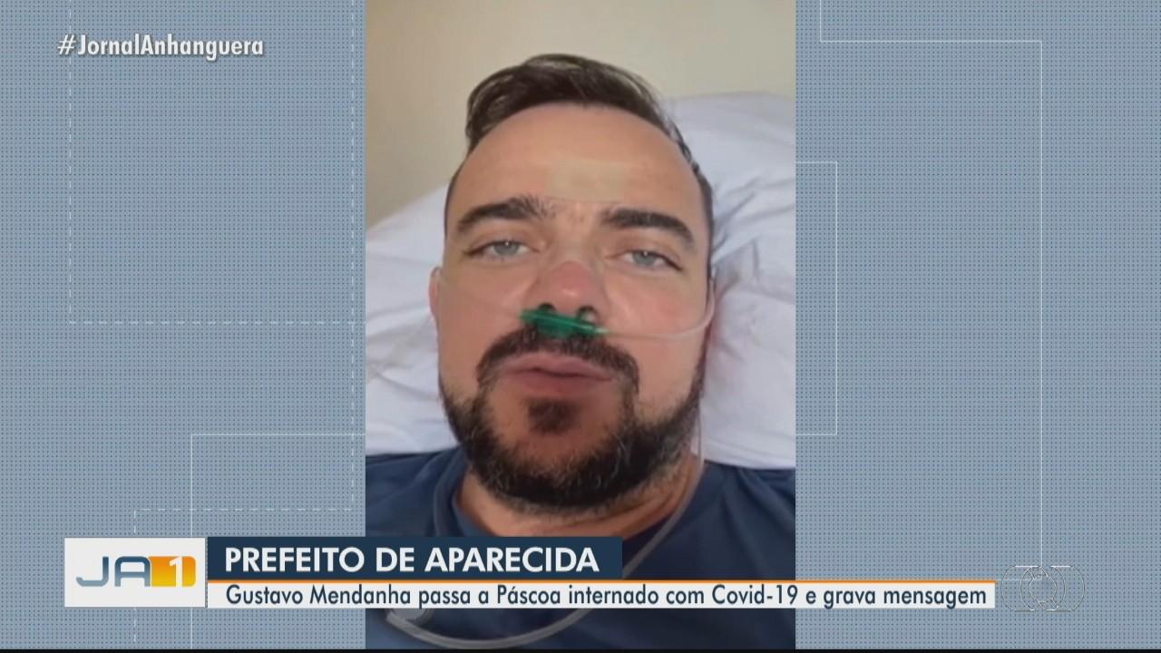Prefeito Gustavo Mendanha relata 'dias difíceis' durante internação para tratar da Covid