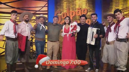 Gustavo Brodinho, Lincon Ramos e Triopacito são as atrações do 'Galpão Crioulo' especial de Natal