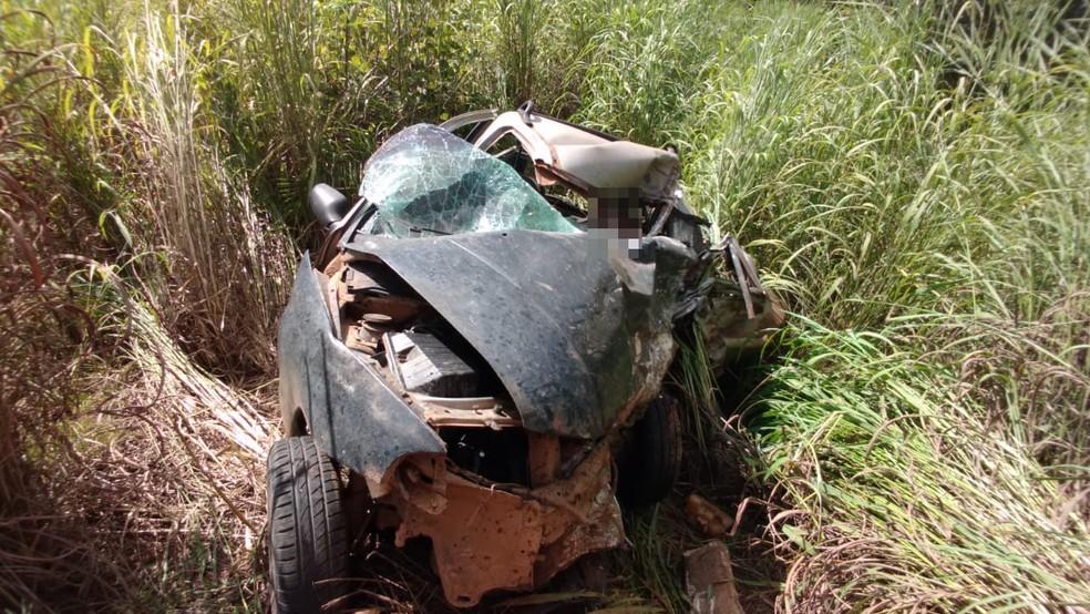 Acidente aconteceu na TO-335 — Foto: Bombeiros/Divulgação
