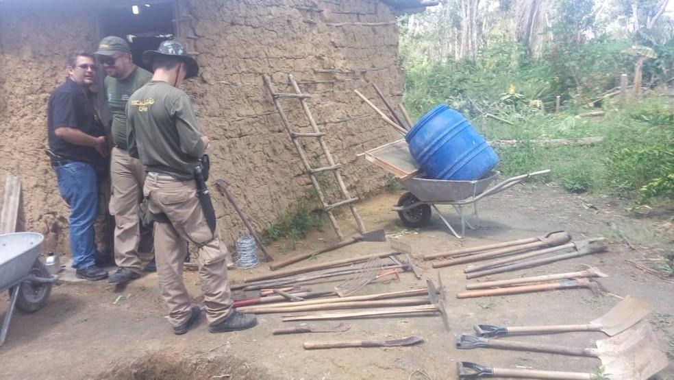 Ação do MPPE e policiais militares contra infrações ambientais ocorreu em sete municípios de Pernambuco — Foto: Ministério Público de Pernambuco/Divulgação