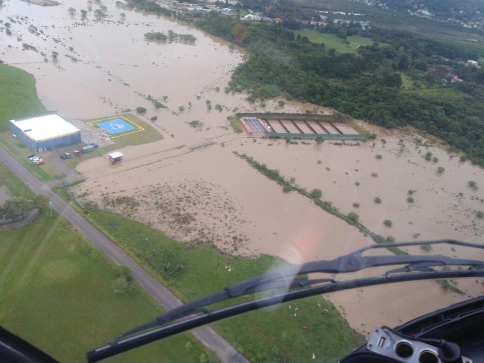 Imagem aérea de Florianópolis (Foto: Eveline Poncio/NSC TV)