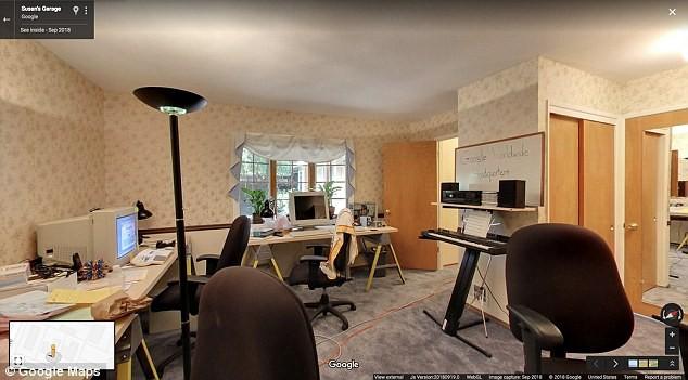 Interior do escritório que abrigou o Google em 1998 (Foto: Divulgação/Google)