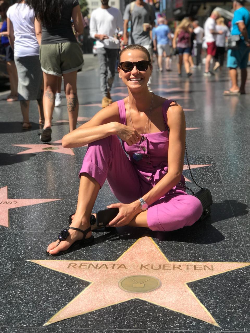 Renata Kuerten está em Los Angeles, nos EUA, pela primeira vez (Foto: Divulgação)