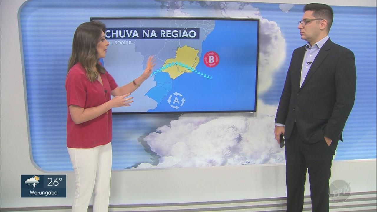 Previsão do tempo mostra chance de chuva nas regiões de Campinas e Piracicaba