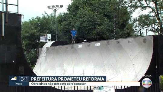 Pista de skate no Parque da Juventude, no ABC, precisa de reforma