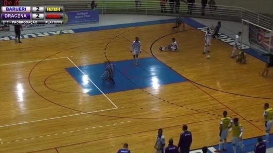 Dracena vence o Barueri na prorrogação e garante vaga nas quartas de final da Liga Paulista de Futsal