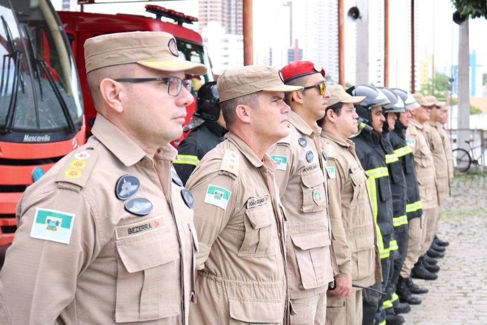 Corpo de Bombeiros Militar também participa da Operação Tiradentes — Foto: CBM-RN/Divulgação