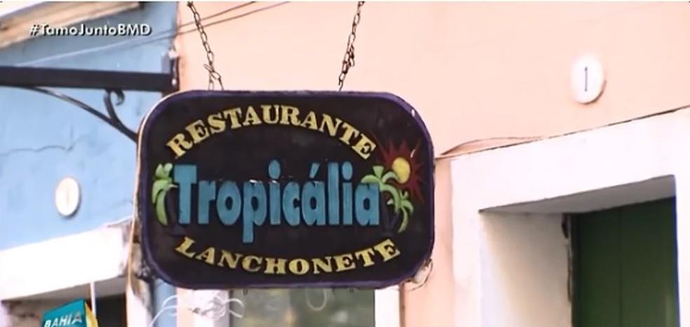 Anderson abriu um restaurante no Pelourinho, Centro Histórico de Salvador (Foto: Reprodução/ TV Bahia)