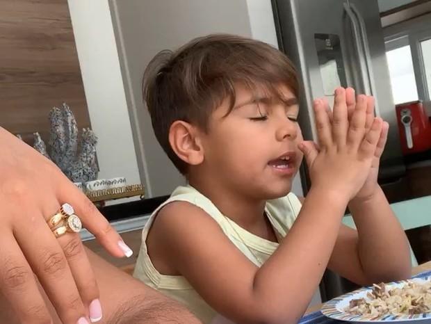 Henry, filho de Simone e Kaká Diniz (Foto: Reprodução/Instagram)