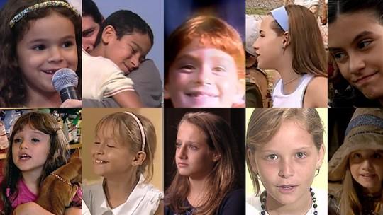'Dia das Crianças': veja vídeos dos primeiros trabalhos de 10 famosos que cresceram na TV