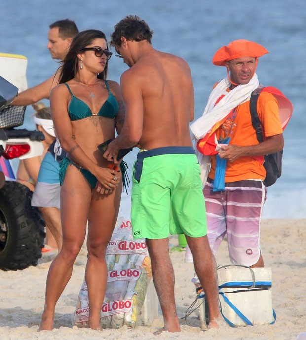 Aline Riscado e Felipe Roque (Foto: AgNews / J C Pereira)