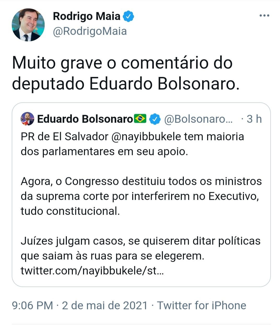 Twitter Rodrigo Maia