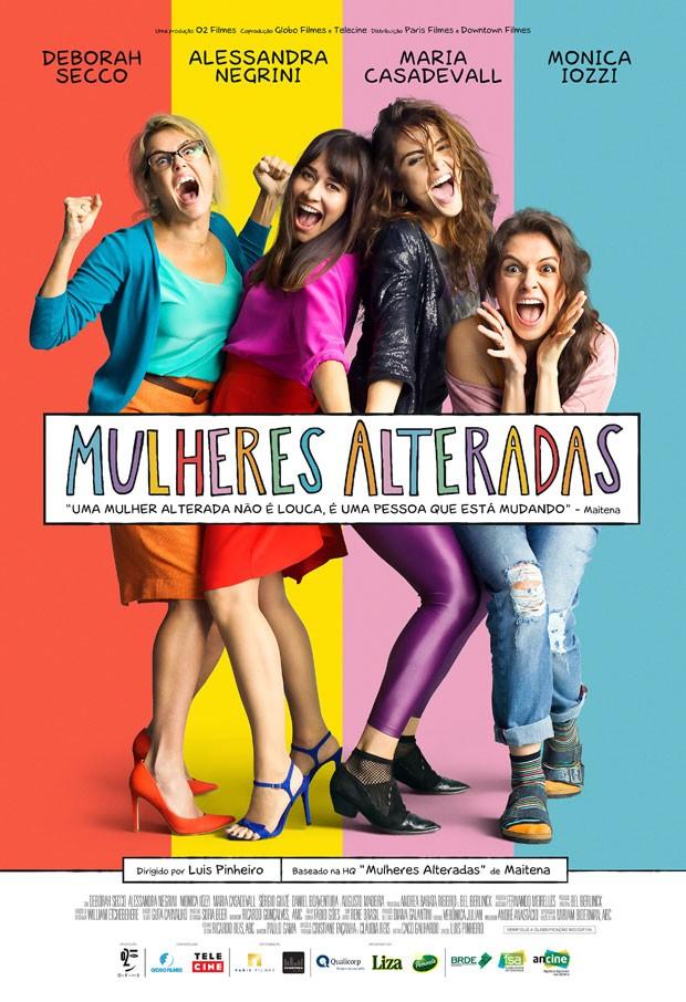 Mulheres Alteradas: longa tem Deborah Secco, Maria Casadevall, Alessandra Negrini e Monica Iozzi no elenco (Foto: Divulgação / Ariela Bueno)