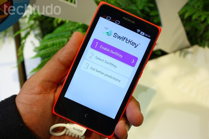 Como ativar o modo polegar do SwiftKey para Android? (Foto: Allan Mota/TechTudo)