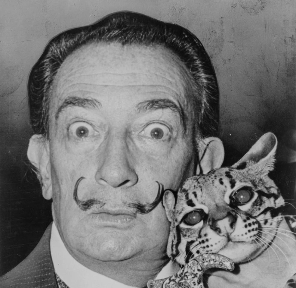 O pintor surrealista Salvador Dalí  â?? Foto: Roger Higgins/United States Library of Congress's Prints and Photographs division