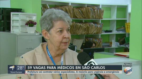Prefeitura abre concurso público para contratar 59 médicos em São Carlos