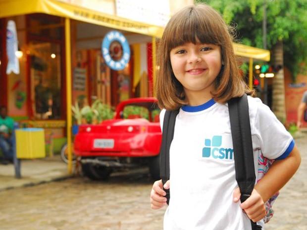 Klara Castanho em seu primeiro papel na Globo como Rafaela na novela Viver a Vida, de Manoel Carlos (Foto: TV Globo)