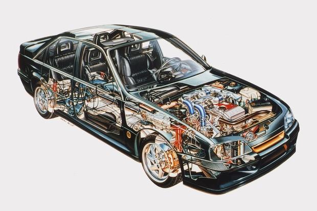 O cutaway do carro mostra o motor quase espremido (Foto: Divulgação)